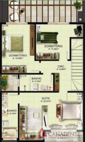 Ville Liberté III - Casa 3 Dorm, Vila Nova, Porto Alegre (8790) - Foto 5